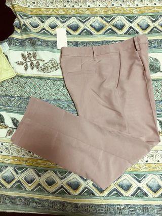 煙燻粉紅 西裝褲