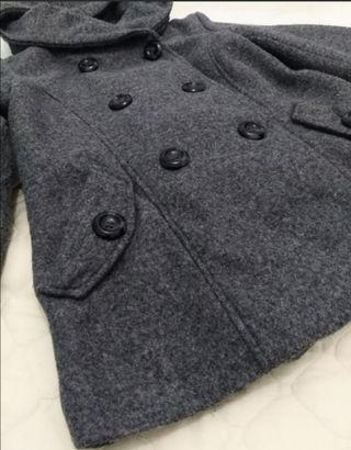 Double-breasted Winter Coat with Hood
