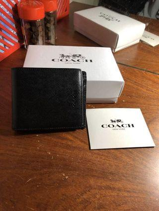 Coach 防刮皮夾 有零錢袋