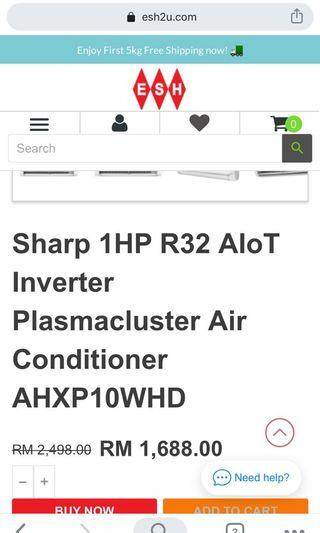New sharp aircond for sell