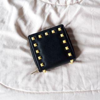 Dompet Hitam Lipat Persegi Hitam Black Wallet