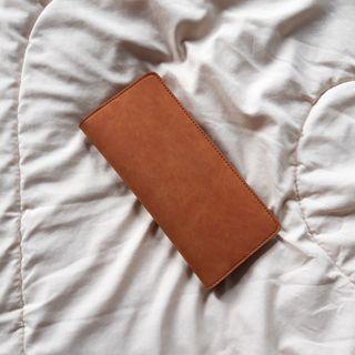 Dompet Lipat Panjang Coklat Brown Wallet