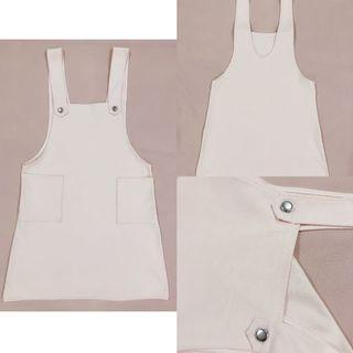 [ALL FOR RM15] Korean Style Pastel Pink Cotton Pinafore Overalls