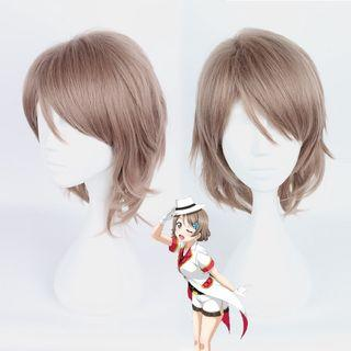 Watanabe You Cosplay Wig Love Live! Sunshine!! Cosplay Play Wigs Party Short Light Bright Hair