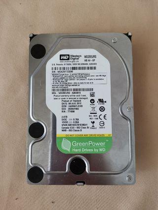 "2TB WD GREEN AV HDD DESKTOP HDD SATA 3.5"" 2000GB 7200 RPM WD20EURS"