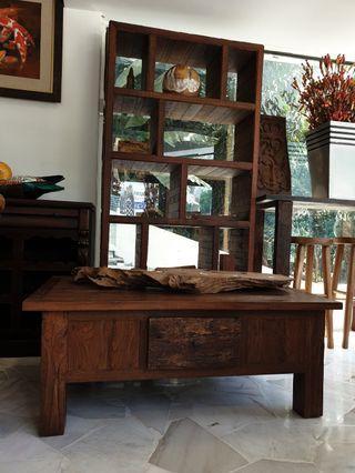 Old Teak Coffee Table