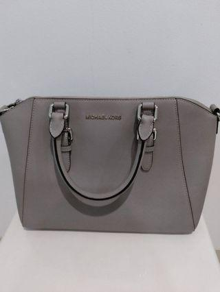 #SALE Michael Kors Ciara Large Satchel Leather Colour Cement