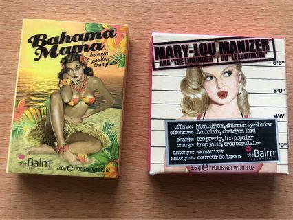 The Balm highlighter and bronzer