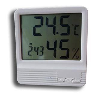 數字鐘+溫度計+溼度計三合一小桌鐘