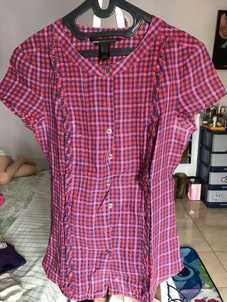 mango - red blouse