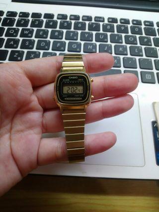 Casio 電子錶 小金錶 Y購購入