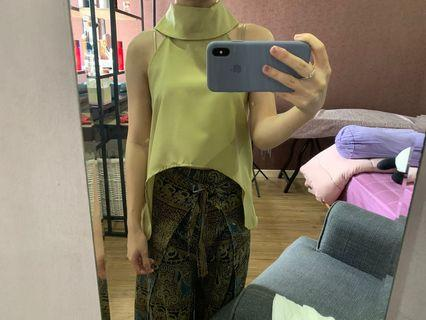 Dusty Green cropped top