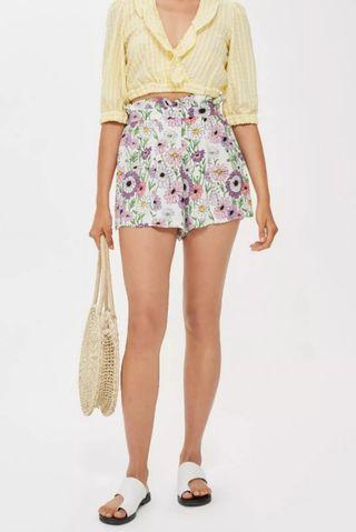 Preloved Topshop floral frill shorts