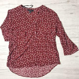 Atmosphere Patterned Blouse (Red)