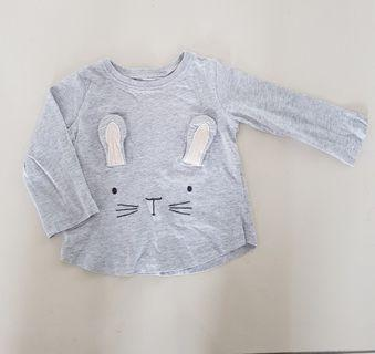 "Next UK ""Grey Rabbit"" Long Sleeves Top"