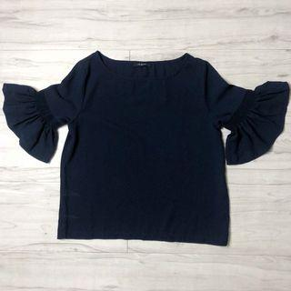 Icons Blouse (Navy Blue)