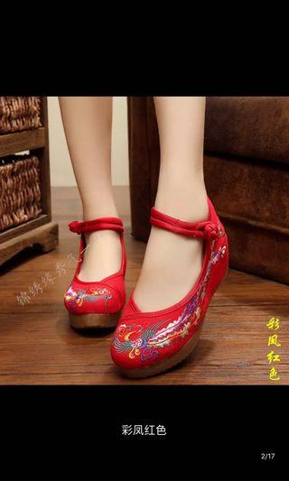 Shoes - Chinese style ,  red shoe, suitable for wedding or shooting