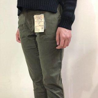 無印良品 MUJI 舒適工作褲 有機棉混彈性綾織 S