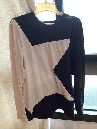 拼接黑白長袖上衣(都可議價空間或面交)