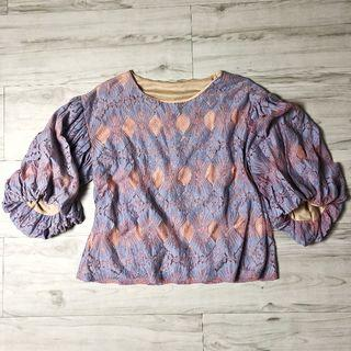 Blouse (NEW) (Pink & Blue)