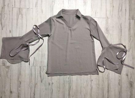 Collared Blouse (NEW) (Grey)