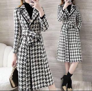 dress houndstooth blazer coat