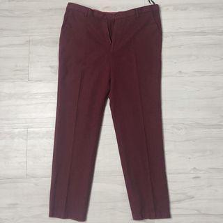 Cigarette Trousers (Work Pants) (Maroon)