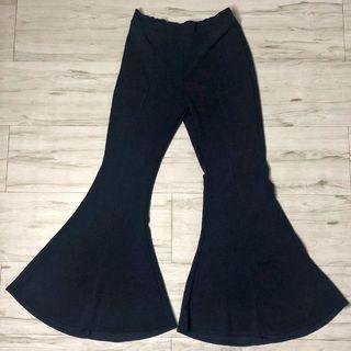Bell Bottoms Trousers (NEW) (Navy Blue)