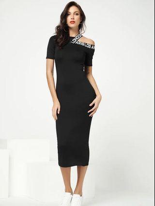 Bodycon black Dress long