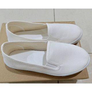 全新女鞋 可塗鴉 可愛小白鞋休閒鞋 懶人鞋