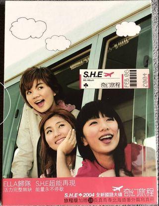 收購 S.H.E SHE 奇幻旅程 旅程版 有側標 有簽名佳