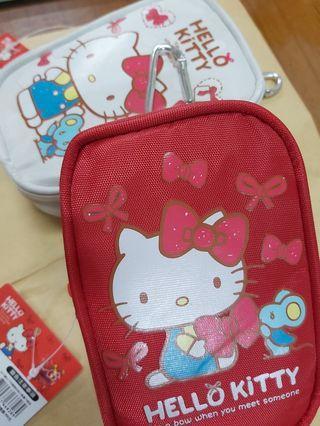 Hello Kitty   腰包  掛勾零錢包  萬用包