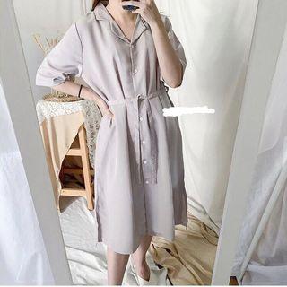 Gray midi dress #visitsingapore