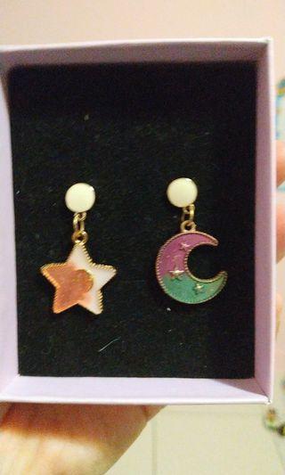 DIY耳環月亮星星款
