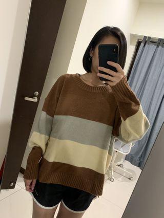 針織上衣 #棕 #剁手時尚