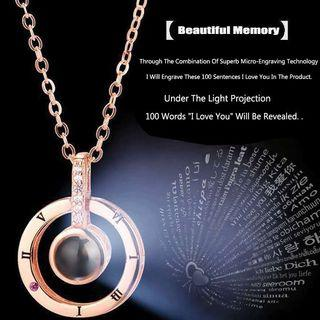 100 language I love u necklace