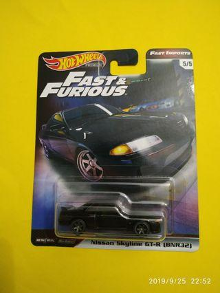 Hot Wheels Nissan Skyline GT-R R32 Fast and Furious Premium