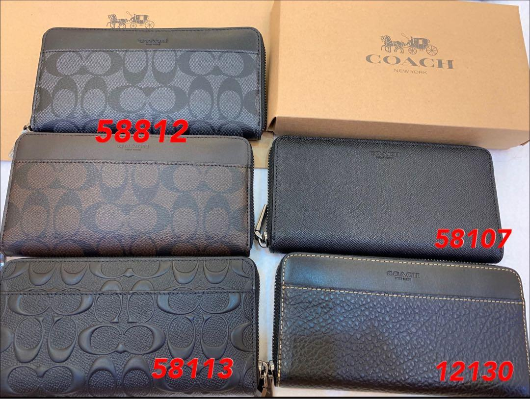 (29/09/19)Ready Stock Authentic coach men long purse wallet clutch money clips coin pouch coin wallet uhh