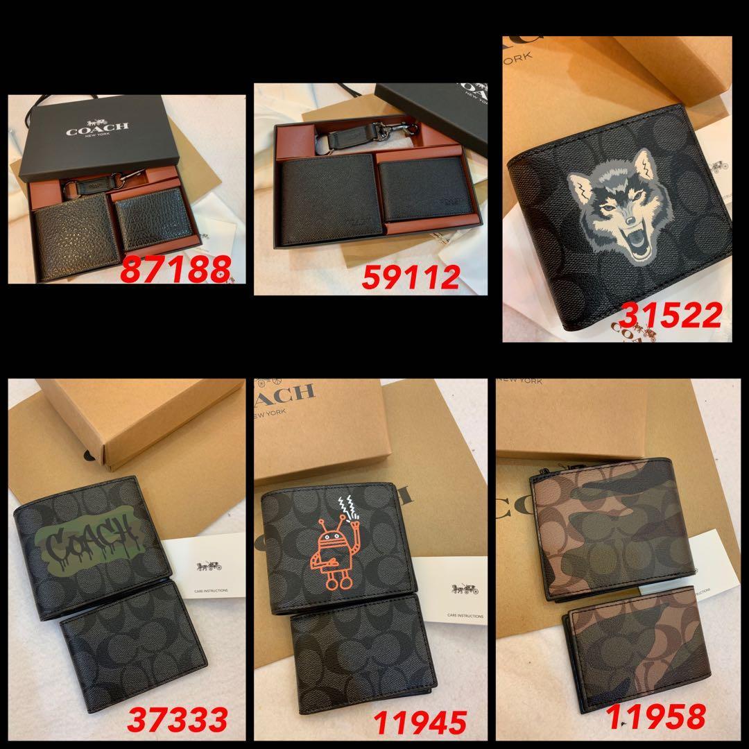 (29/09/19)Ready Stock Authentic coach men long purse wallet clutch money clips coin pouch coin wallet uhh