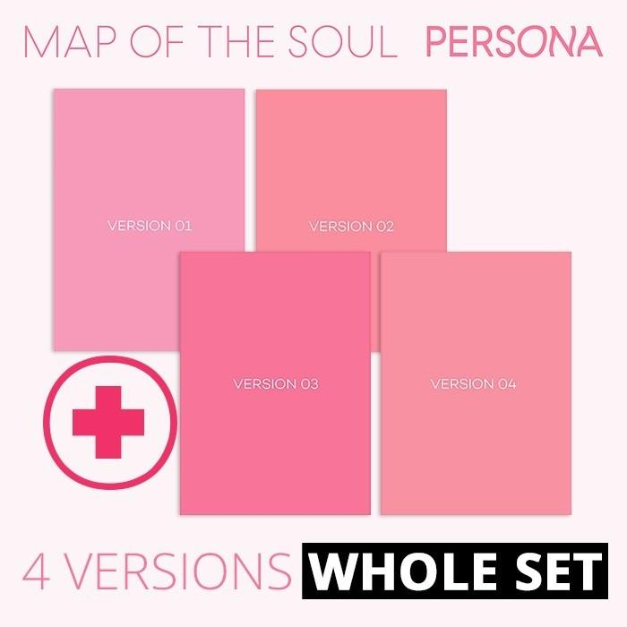 [4 Version Set, No Poster ] BTS - MAP OF THE SOUL : PERSONA Set