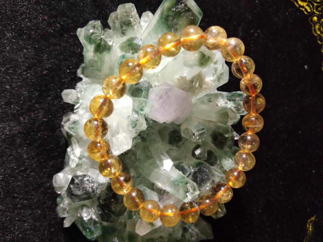 8咪天然黃水晶
