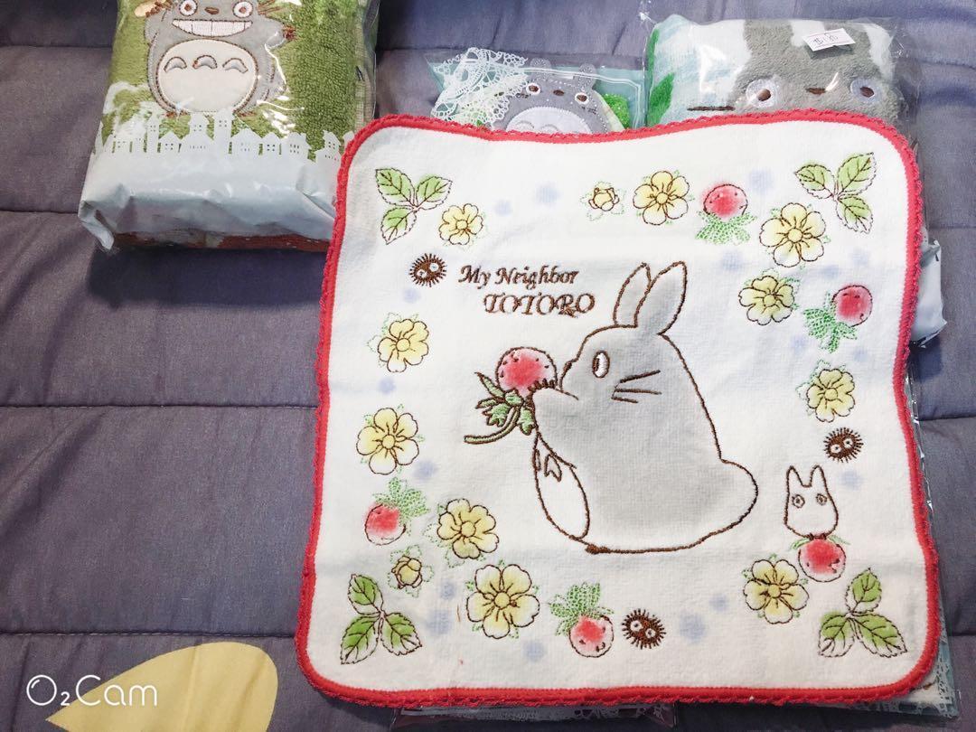 ❤️草莓龍貓小方巾❤️