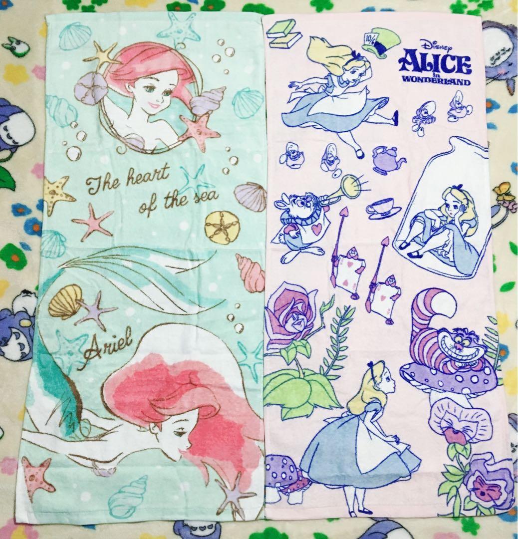 ❤️愛麗絲美人魚成人毛巾❤️