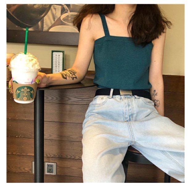 全新✨藍綠色針織背心 #剁手時尚
