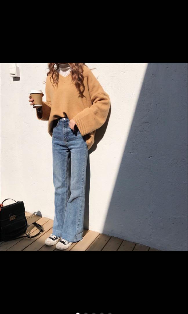 氣質喇叭牛仔褲 版型💯