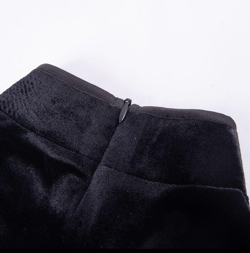 復古連衣裙 暗黑風黑色性感角色扮演 制服 旗袍