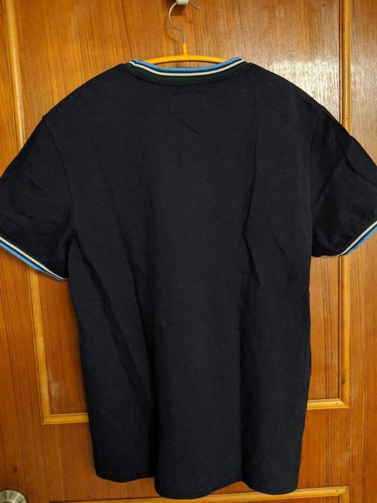 衝浪刺繡 休閒上衣 藍 M號