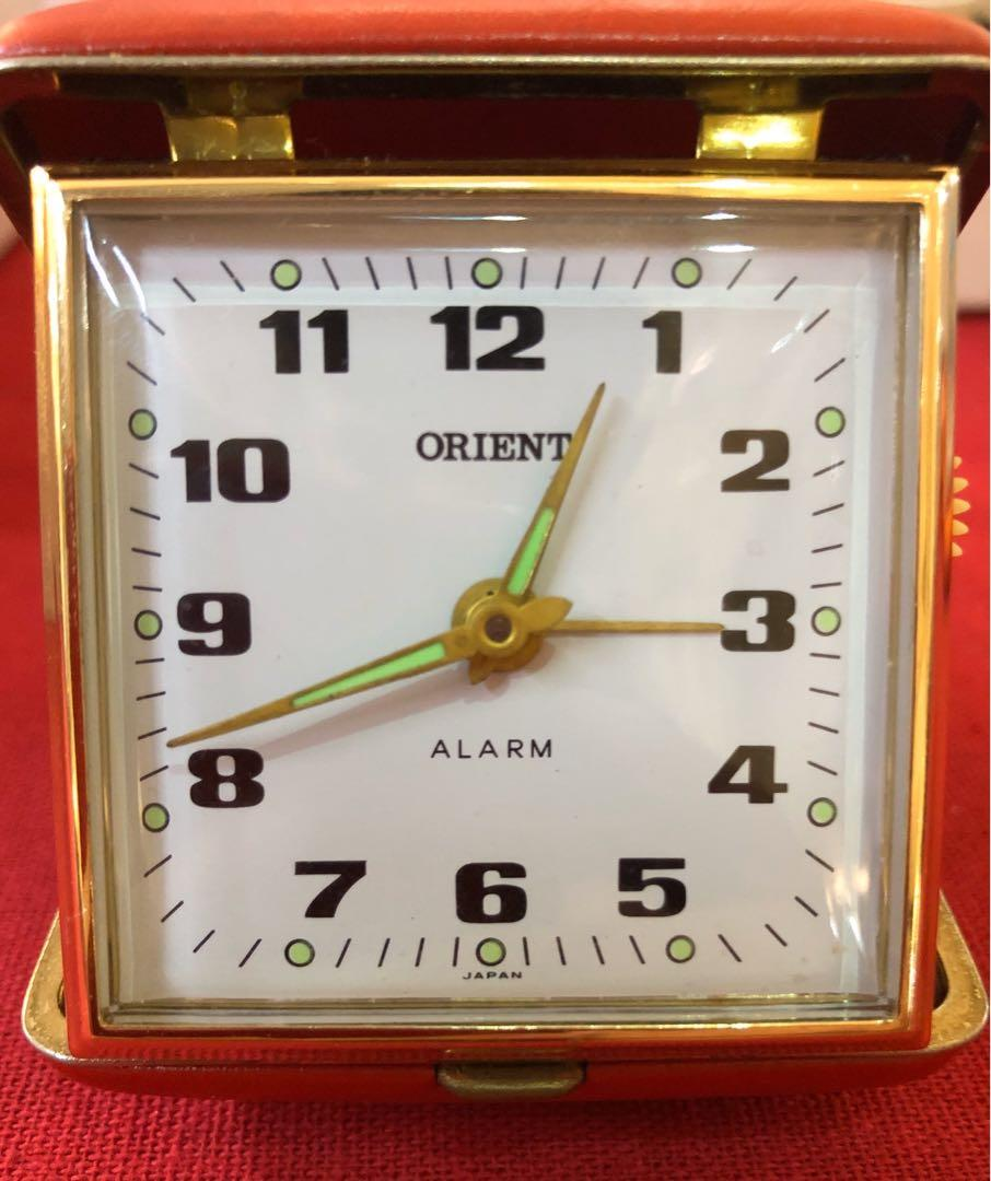 Vintage Orient winding alarm clock