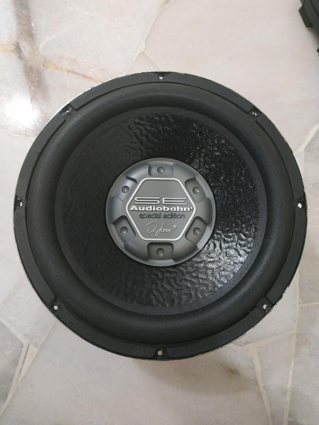 "Audiobahn AW1251SE  Natural Sound Series 12"" subwoofer with dual 4-ohm voice coils"