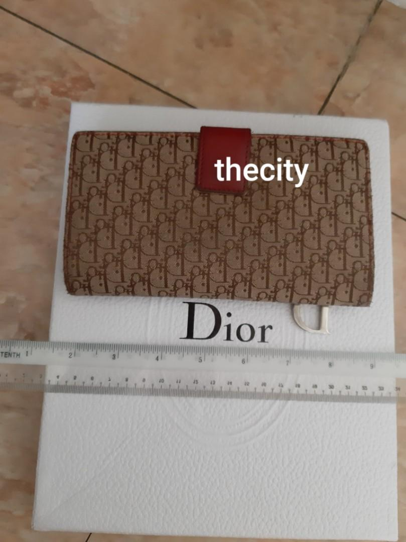 AUTHENTIC DIOR SADDLE LONG WALLET - MONOGRAM LOGO CANVAS DESIGN - (DIOR SADDLE LONG WALLETS NOW RETAIL AROUND RM 4000+)